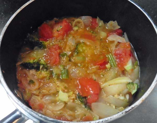 Soup from Leftover Vegetables, Easy Recipe