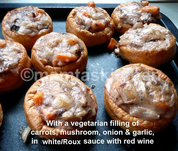 Yorkshire Puddings with Mackerel or Haddock or Salmon Filling