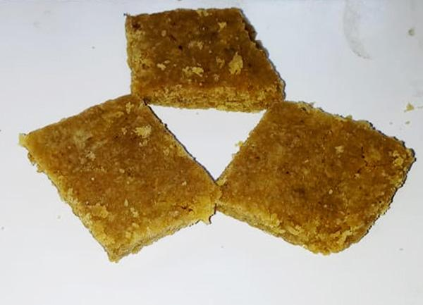 Besan (Bengal Gram Flour) or Chapatti Flour Burfi With Clotted Cream & Coconut