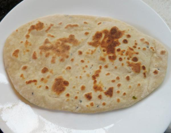 Naan 1b, Indian Leavened Bread Without Yeast (Traditional Indian)